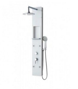 Chuveiro com Hidro massagem Vertical - OHOME G8138 White Glass Malawi