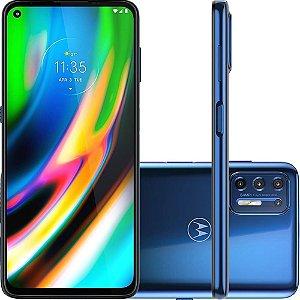 """Smartphone Moto G9 Plus 128GB Dual Chip Android 10 Tela 6.8"""" Qualcomm Snapdragon 4G Câmera Quadrupla 64MP + 8MP+ 2MP + 2MP- Azul Índigo"""