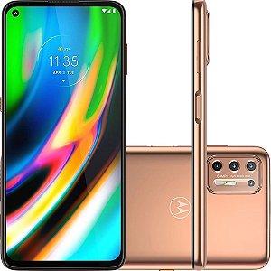 "Smartphone Moto G9 Plus 128GB Dual Chip Android 10 Tela 6.8"" Qualcomm Snapdragon 4G Câmera Quadrupla 64MP + 8MP+ 2MP + 2MP - Ouro Rosê"