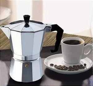 Cafeteira Tipo Italiana 3 Cafés Feita Em Alumínio - 150ml