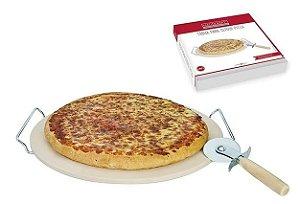 Tábua de Cerâmica para Servir Pizza