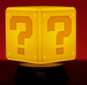 LUMINARIA NINTENDO SUPER MARIO BROS - QUESTION BLOCK - 3D PP4372NNTX