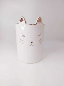 Cachepot em Cerâmica Gato