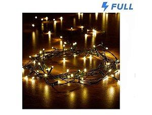 Pisca Pisca De Natal Led100 Lampadas Branco Quente Warm 8,3m