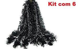 Kit Festão Nevado  Tiras Decoração Natal Cheio 6 unidades - 2m cada