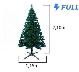 Árvore De Natal Gigante 2,10m Verde Pinheiro 1000 Pontas