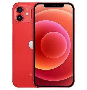 "iPhone 12  Vermelho iOS 5G Wi-Fi Tela 6.1"" Câmera - 12MP + 12MP - Apple"