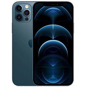 "iPhone 12 Pro Azul Pacífico iOS 5G Wi-Fi Tela 6.1"" Câmera - 12MP + 12MP + 12MP + Sensor LiDAR - Apple"