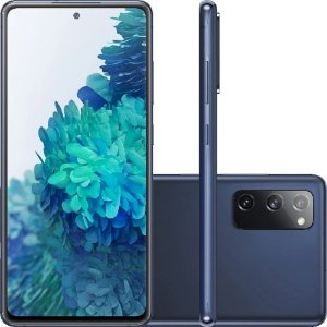 "Smartphone Samsung Galaxy S20 Fe Octa-Core 2.73GHz Dual Chip Wi-Fi 4G Tela 6.5"" Câmera Tripla Traseira de 12MP Ultra Wide + 12MP OIS + 8MP Telephoto - Cloud Navy"