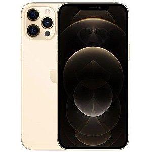 "iPhone 12 Pro Max Dourado iOS 5G Wi-Fi Tela 6.7"" Câmera - 12MP + 12MP + 12MP + Sensor LiDAR - Apple"