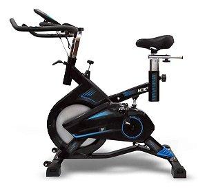 Bicicleta ergométrica spinning Acte Sports E17 preta e azul