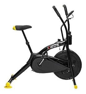 Bicicleta ergométrica airbike Kikos A5 preta
