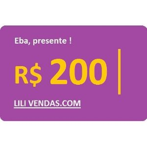 Vale Presente - R$200 (Virtual)