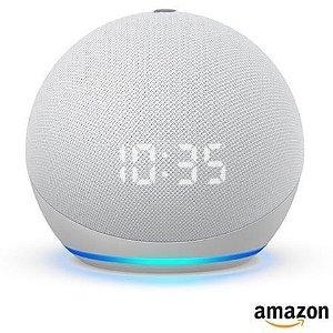 Assistente Pessoal Echo Dot (4ª geração) Smart Speaker Amazon com Relógio e Alexa - Branco