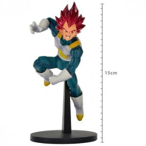 FIGURE DRAGON BALL SUPER - VEGETA SUPER SAYAJIN GOD - BLOOD OF SAIYANS