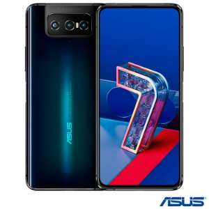 """Zenfone 7 Preto Asus, com Tela de 6,67"""",5G, 128GB e Câmera Tripla de 64MP + 12MP + 8MP - ZS670KS"""