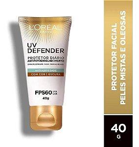 Protetor L'oréal Paris Uv Defender Cor Escura Fps 60