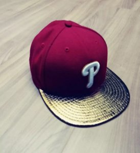 Boné  New Era Philadelphia Phillies 7 1/8 metalizado - Vermelho