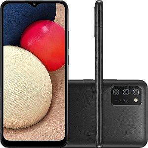 "Smartphone Samsung Galaxy A02s Dual Chip Android Tela 6,5"" Octa-Core 1.8GHz 32GB 4G Câmera 13MP + 2MP + 2MP"