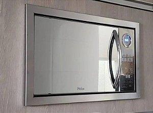Microondas Philco PME31 Espelhado - 30L + Moldura para embutir