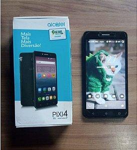 "Smartphone Alcatel Pixi4 Tela de 6"" 8Gb de memória - Preto"