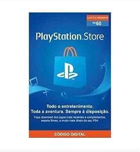 Gift Card Digital Sony Playstation - R$ 60