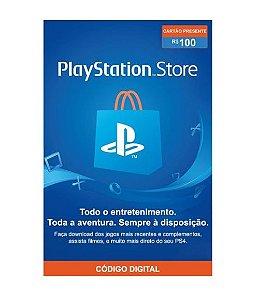 Gift Card Digital Sony Playstation - R$ 100
