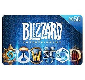 Gift Card Digital Blizzard - R$ 50