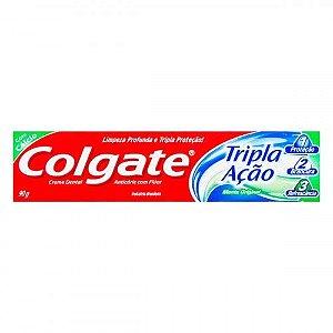 Creme Dental Menta Original Colgate Tripla Ação Caixa - 90g