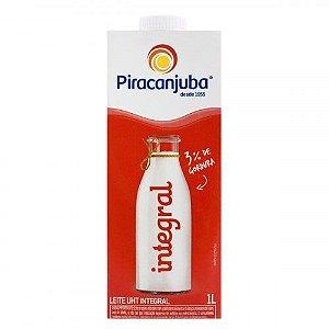 Leite UHT Integral Piracanjuba Caixa com Tampa - 1L