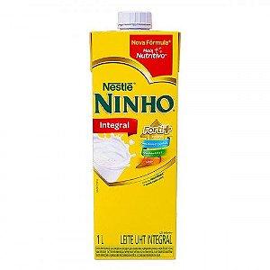 Leite UHT Integral Nestlé Ninho Forti+ Caixa com Tampa - 1L