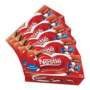 Kit 5 Caixas De Bombom Especialidades Nestlé - 251g cada