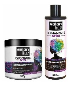 Kit Permanente Afro 2 Produtos - Salon Line
