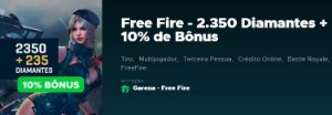 Gift Card Digital Free Fire 2.350 Diamantes + 10% de Bônus