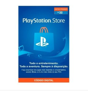Gift Card Digital Sony Playstation - R$30