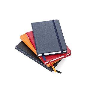 Caderneta Pequena em couro Personalizado  14,4 X 8,8 cm - COM PAUTA
