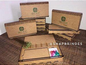 Caixa de MDF Personalizada - Com compartimento para pen card e foto 10x15