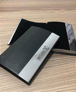 Porta Cartão Couro Sintético Personalizado em Laser