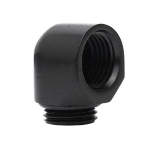 Water Cooler Mini Fitting Curva 90º Graus BykSki Preto G1/4