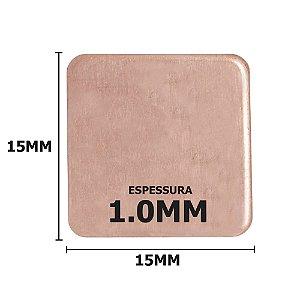 Dissipador de calor de Cobre 15x15x1mm