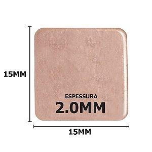 Dissipador de calor de Cobre 15x15x2mm
