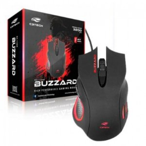 Mouse Optico Gamer C3 tech Buzzard Mg-110bk
