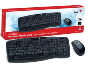 KIT TECLADO E MOUSE GAMER WIRELESS GENIUS