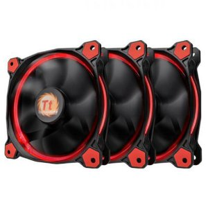 Pack 3x Fan Thermaltake Ring 12 Vermelho 120mm 1500RPM