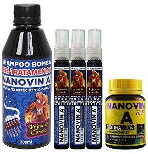 3 Ampolas Krina - 1 Shampoo krina - 1 Vitamina