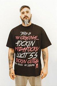 T-Shirt Original Fuckin Illicit 55 - Preta