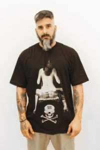 T-Shirt Sex Girl Illicit 55 - Preta
