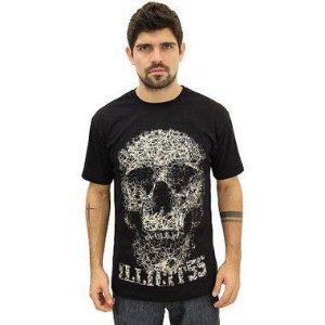 T-Shirt Caveira 1 Illicit 55 - Preta