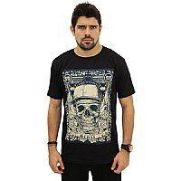 T-Shirt Caveira 3 Illicit 55 - Preta