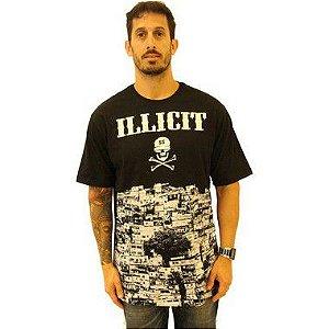 T-Shirt Favela Illicit 55 - Preta